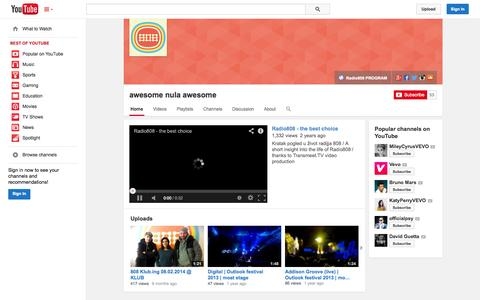 Screenshot of YouTube Page youtube.com - awesome nula awesome  - YouTube - captured Nov. 5, 2014