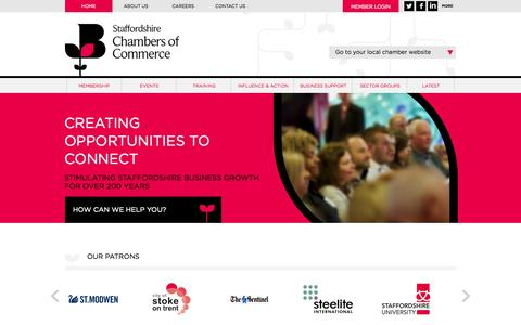 Screenshot of Site Map Page finest.org.uk - Staffordshire Chambers of Commerce - Growing Business - captured Sept. 30, 2014
