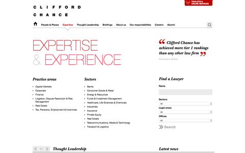 Clifford Chance | Expertise