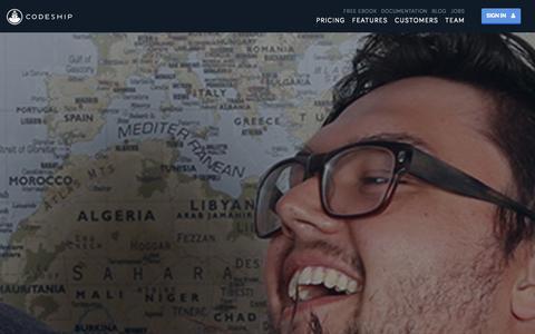 Screenshot of About Page codeship.io - Team | Codeship - captured Sept. 13, 2014