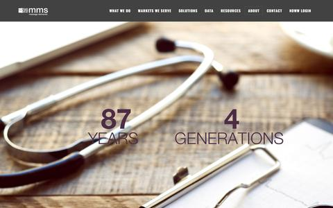 Screenshot of About Page mmslists.com - The History - Medical Marketing Service Inc - About MMS - Management Team - captured March 1, 2017