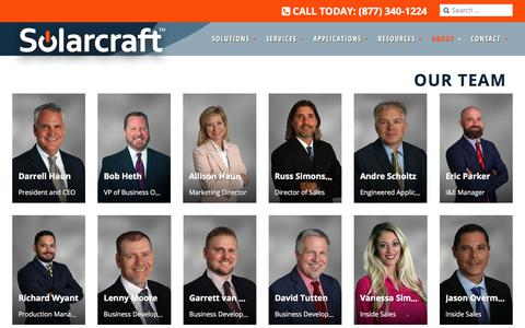 Screenshot of Team Page solarcraft.net - Our Team - Solarcraft Continuous Power & UPS Systems Manufacturer - captured Oct. 27, 2017