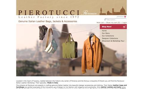 Screenshot of Testimonials Page pierotucci.com - Pierotucci Italian Leather Handbags, Bags, Jackets & Accessories Made in Italy - captured Sept. 22, 2014