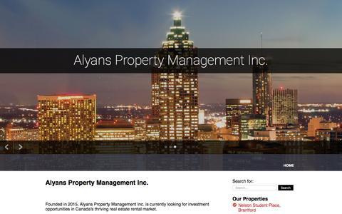 Screenshot of Home Page alyans.ca captured Feb. 5, 2016
