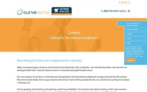 Screenshot of Jobs Page curvedental.com - Careers - Curve Dental - captured Sept. 2, 2017