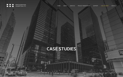 Screenshot of Case Studies Page broadbandhospitality.com - Case Studies – Broadband Hospitality - captured Nov. 6, 2018