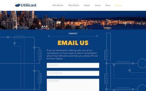 Screenshot of Contact Page utilicast.com - Contact - Utilicast - captured Aug. 12, 2016