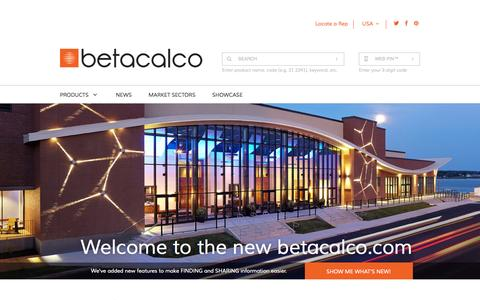 Screenshot of Home Page betacalco.com - Beta-Calco - captured Oct. 5, 2014