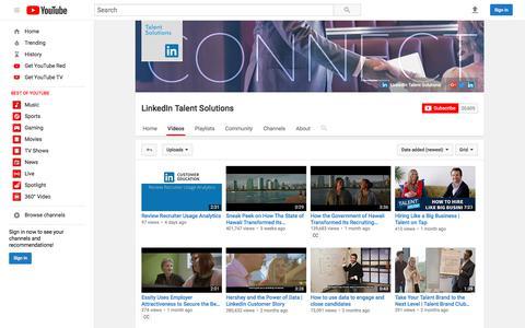 LinkedIn Talent Solutions  - YouTube