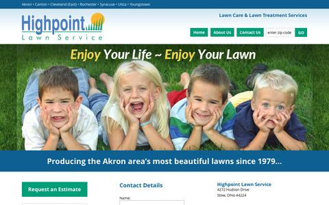 Screenshot of Contact Page hplawn.com - Contact Us For Akron Lawn Care Service | Lawn Maintenance Business in Akron Ohio - captured Nov. 9, 2016