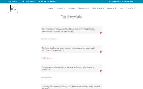 Screenshot of Testimonials Page paintmypicture.com - Paint My Picture - captured Dec. 13, 2018