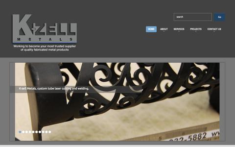 Screenshot of Home Page kzell.com - K-zell Metals   - captured Sept. 12, 2015