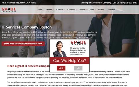 Screenshot of About Page spadetechnology.com - Tech IT Companies Boston, Call Our IT Company Now - captured March 23, 2018