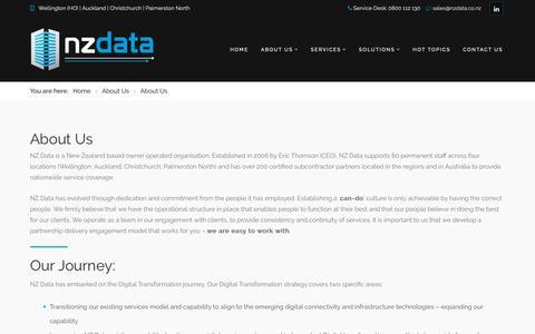 Screenshot of Team Page nzdata.co.nz - NZ Data Team and Digital Transformation Journey - captured Nov. 18, 2018