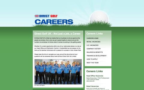 Screenshot of Jobs Page direct-golf.co.uk - Careers - Direct Golf UK - captured Sept. 19, 2014