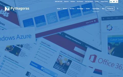 Screenshot of Case Studies Page pythagoras.co.uk - Our Case Studies   Pythagoras - captured Dec. 14, 2015