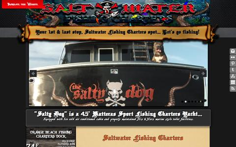 Screenshot of Home Page saltwater-fishing-charters.com - Saltwater Fishing Charters and Fishing Guides - captured Oct. 4, 2014