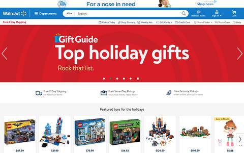 Screenshot of Home Page walmart.com - Walmart - Black Friday Deals | Holiday & Christmas Gifts | Save Money. Live Better. - captured Nov. 15, 2017