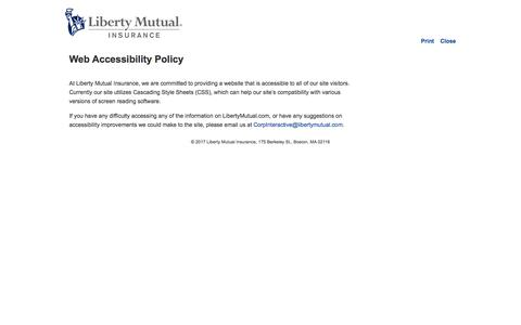 Web Accessibility Policy