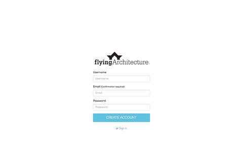 Screenshot of Signup Page flyingarchitecture.com - FlyingArchitecture - captured Oct. 29, 2014