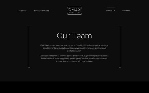 Screenshot of Team Page cmaxadvisory.com.au - Team – CMAX Advisory - captured Oct. 21, 2018