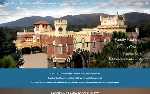 Screenshot of Home Page elcastillohotel.com.ar - El Castillo Hotel Fabrega Organizational Center - captured Sept. 27, 2018