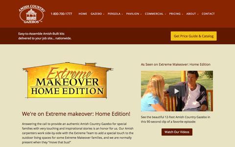 Screenshot of Press Page amishgazebos.com - Media | Amish Country Gazebos - captured Jan. 15, 2020