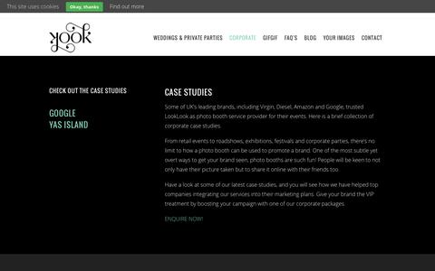 Screenshot of Case Studies Page looklook.co.uk - Corporate Case Studies | LookLook - captured Jan. 23, 2016