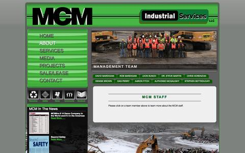 Screenshot of About Page mcmmanagement.com captured Oct. 4, 2014