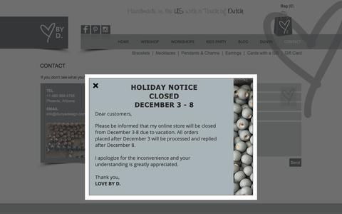 Screenshot of Contact Page dunyadesign.com - Dunya Design | Contact - captured Dec. 9, 2018