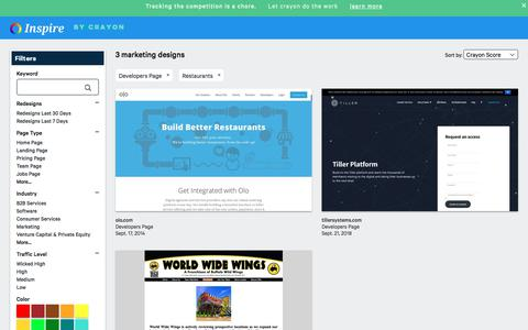 Screenshot of Developers Page crayon.co - Restaurants Developers Pages | Website Inspiration and Examples | Crayon - captured Nov. 26, 2019