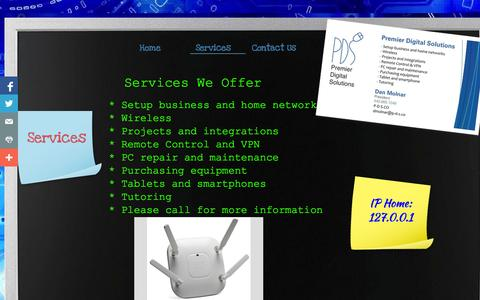 Screenshot of Services Page p-d-s.co - Services - captured Oct. 3, 2014