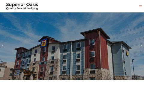 Screenshot of Home Page superioroasis.com - Superior Oasis Quality Food & Lodging - captured Oct. 20, 2018