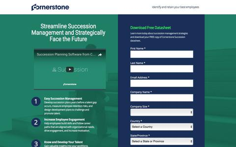 Screenshot of Landing Page cornerstoneondemand.com - Succession Management Software | Cornerstone - captured April 6, 2017