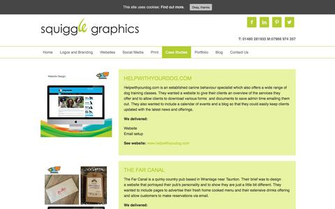 Screenshot of Case Studies Page squigglegraphics.net - Case Studies - Squiggle Graphics - captured Aug. 15, 2016