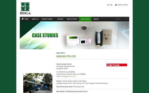 Screenshot of Case Studies Page hoga.com.sg - Case Studies - captured Jan. 30, 2016