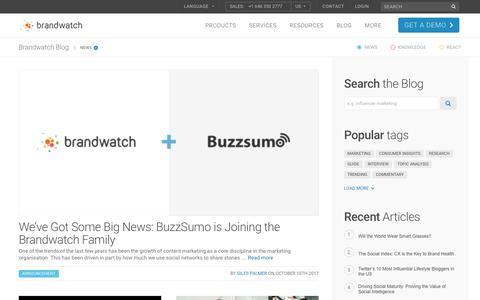 Screenshot of Press Page brandwatch.com - Blog   Brandwatch - captured Oct. 20, 2017