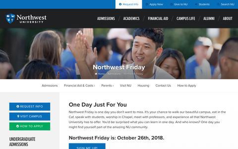 Screenshot of Signup Page northwestu.edu - Northwest Friday - captured Oct. 18, 2018
