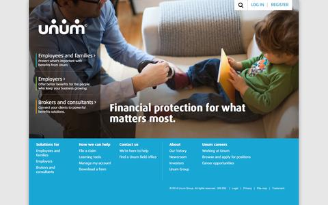 Unum Disability, Life and Financial Protection Benefits