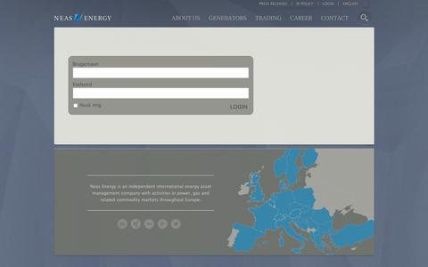 Screenshot of Login Page neasenergy.com - Login - captured Feb. 22, 2016