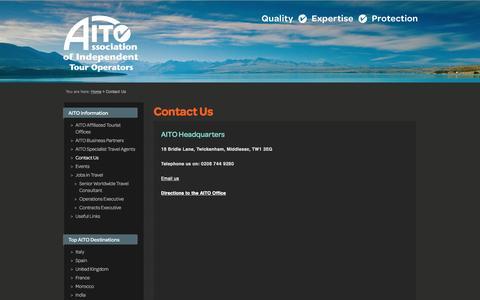 Screenshot of Contact Page aito.com - Contact Us | AITO - captured Feb. 4, 2016
