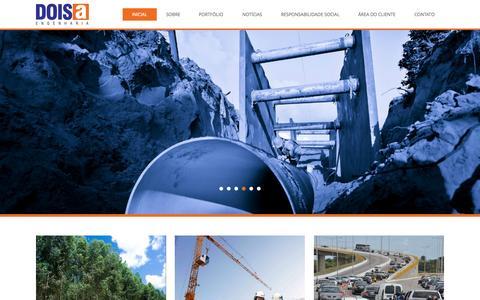 Screenshot of Home Page doisa.com - DoisA Engenharia - captured Sept. 12, 2015