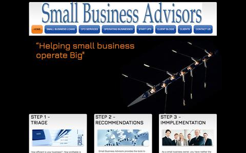 Screenshot of Home Page small-business-advisors.com - small business advisor and small business assist - captured Nov. 2, 2017