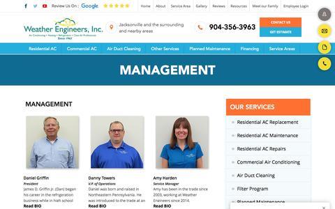 Screenshot of Team Page weatherengineers.com - Management - Weather Engineers, Inc. - captured Dec. 11, 2016