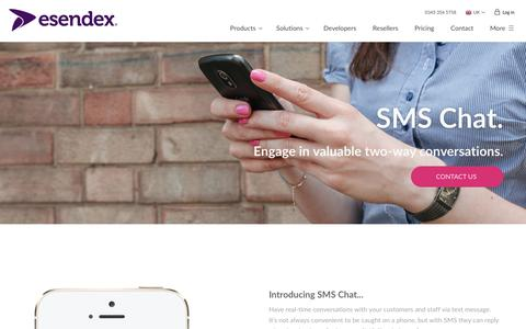 SMS Chat for real time two-way conversations | Esendex
