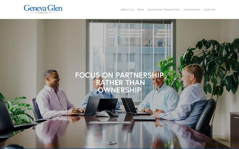 Screenshot of About Page genevaglencapital.com - Values & Approach — Geneva Glen Capital - captured July 17, 2018