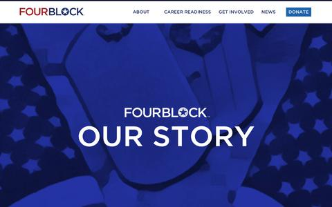 Screenshot of About Page fourblock.org - About FourBlock | Veteran Career Readiness - captured Oct. 11, 2018