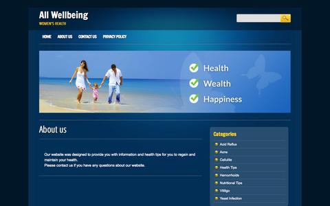 Screenshot of About Page allwellbeing.com - About us - All Wellbeing - captured Nov. 3, 2014