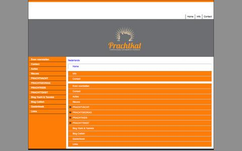 Screenshot of Site Map Page Menu Page prachtkat.nl - Map - captured Dec. 10, 2015