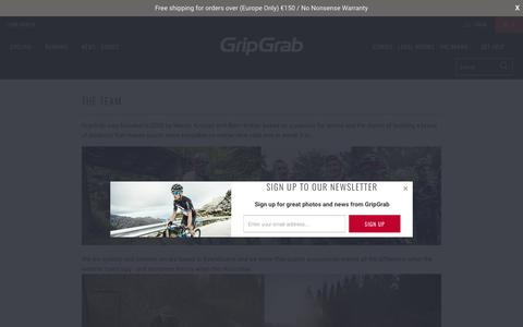 Screenshot of Team Page gripgrab.com - The Team - GripGrab - captured Sept. 19, 2017